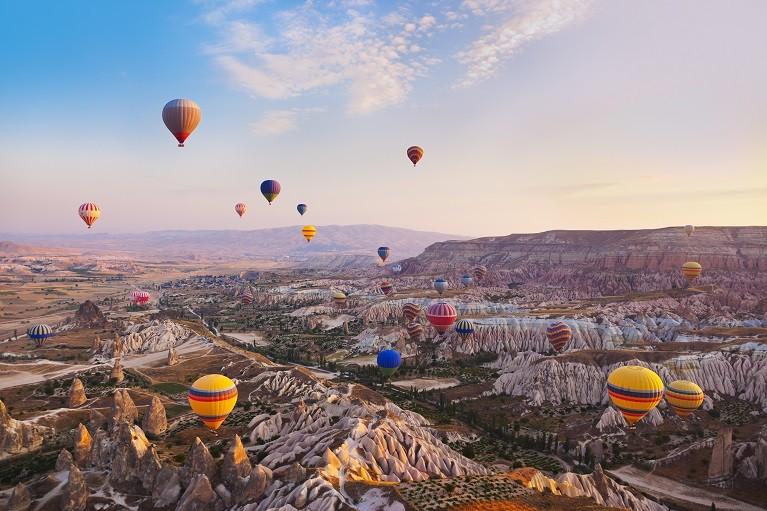 Lot balonem nad Kapadocją, Turcja