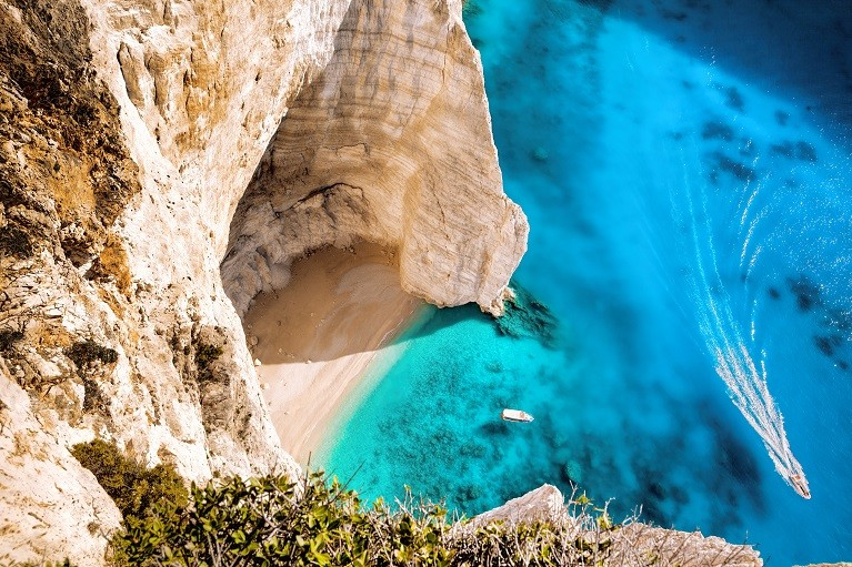 Widok na Zatokę Wraku, Zakynthos