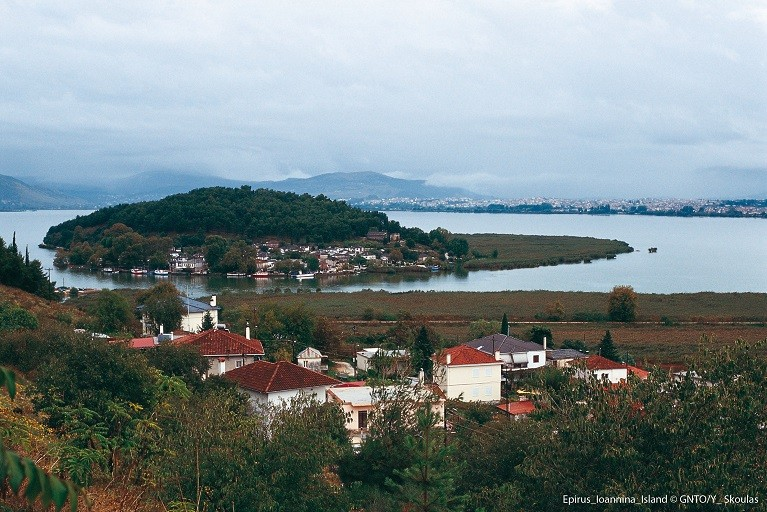 Miasto Ioannina w północno-zachodniej Grecji