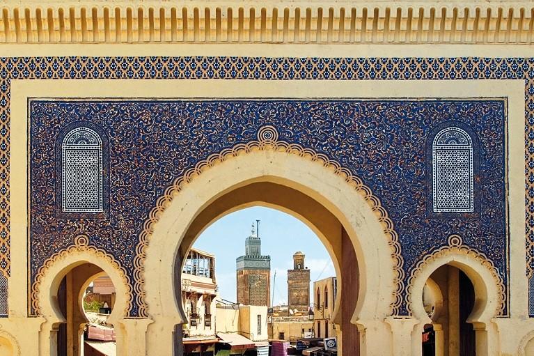 Błękitna brama w Fezie, Maroko