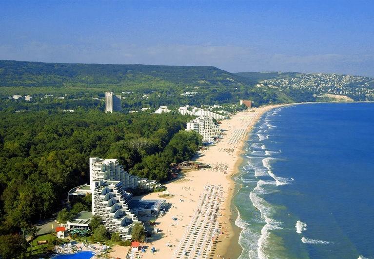 Wybrzeże w Złotych Piaskach, Bułgaria