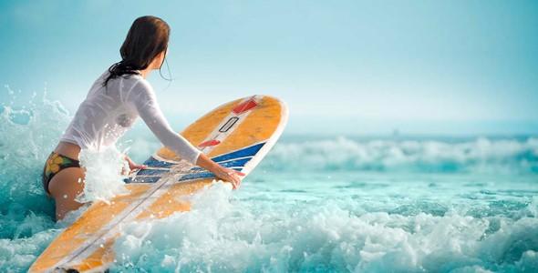 Surfing na wakacjach