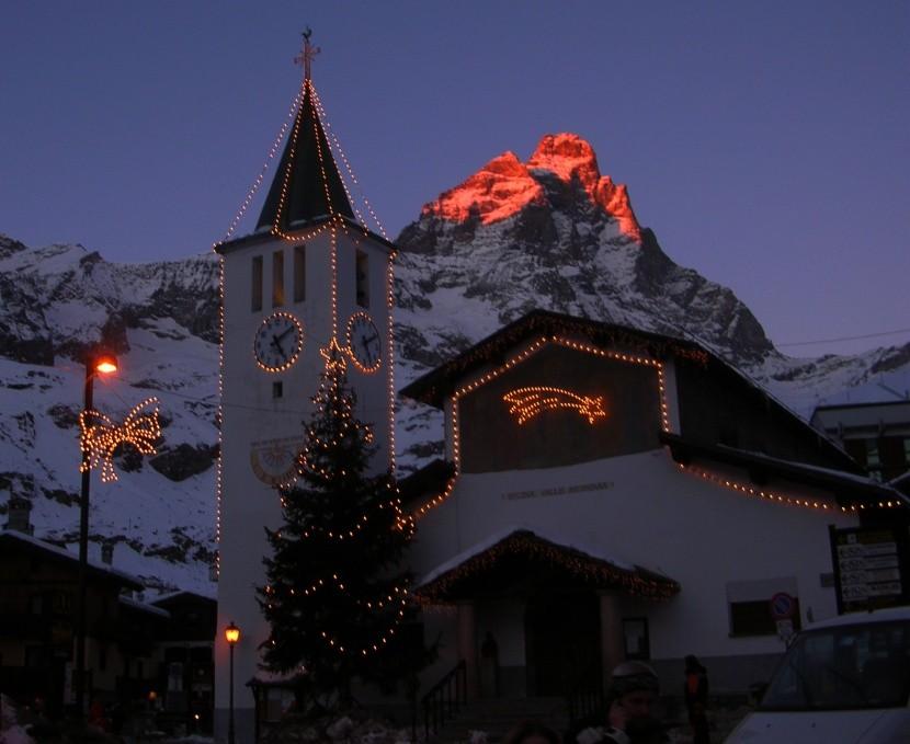 Breuil-Cervinia, widok na Matterhorn