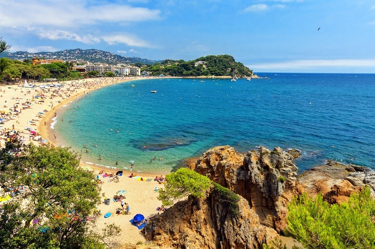 Plaże Lloret de Mar na Costa Brava, Hiszpania