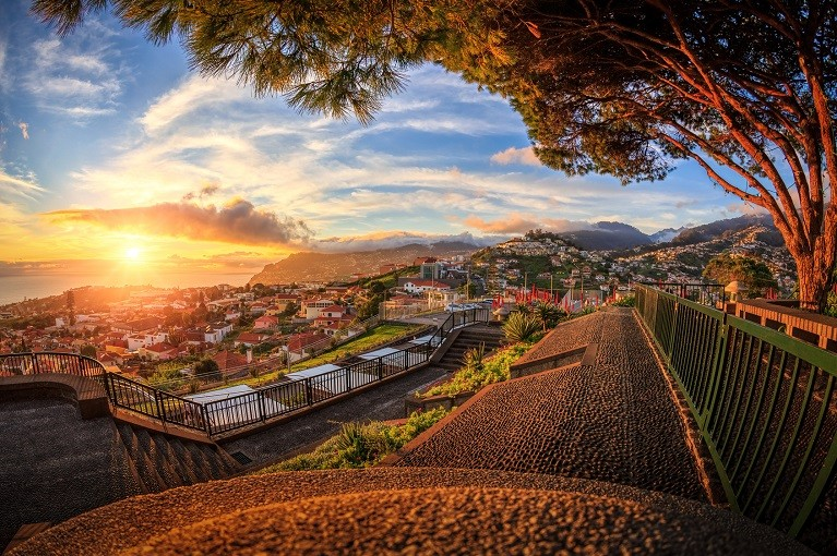 Panorama Funchal na Maderze, Portugalia