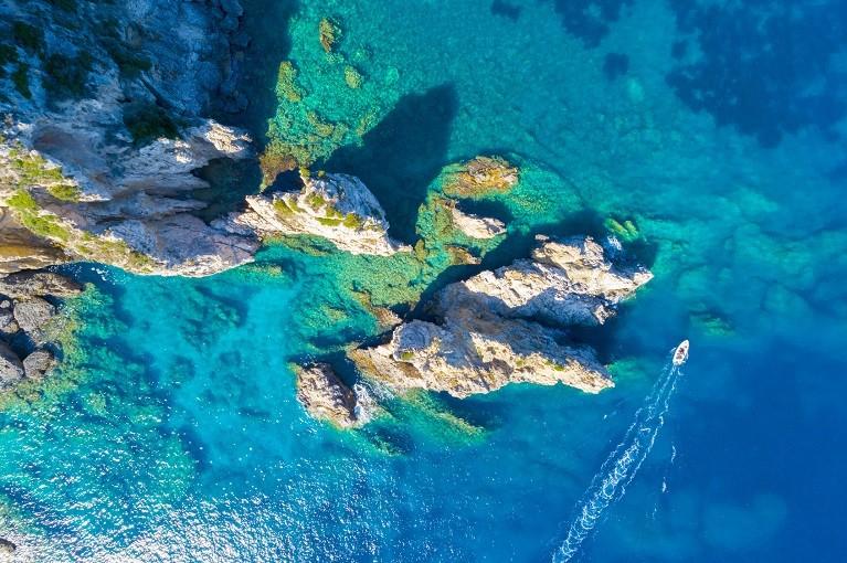 Rafy koralowe z lotu ptaka, Egipt