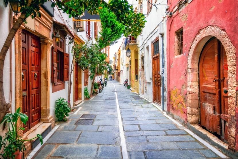 Malebné uličky v městečku Rethymno