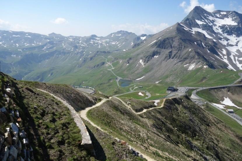 Vysokohorská silnice v Rakousku