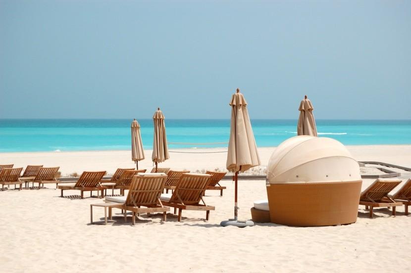 Pláž v Abu Dhabi