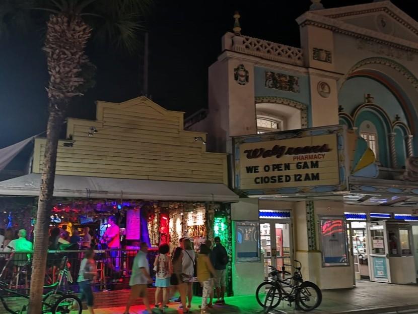 Key West főleg éjszaka él