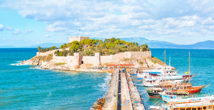 Holubí ostrov, Kusadasi, Turecko