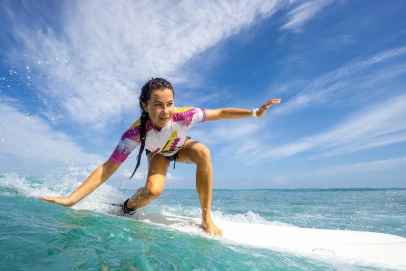Surfování na Seychelách