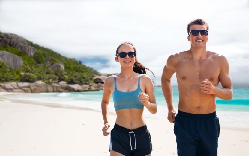 Běhání na ikonické pláži