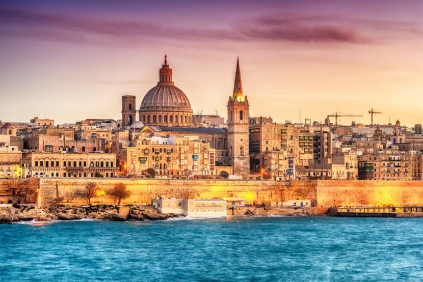 Valletta, přístav Marsans, Malta