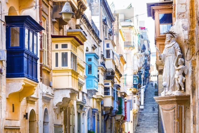 Typické uličky na Maltě