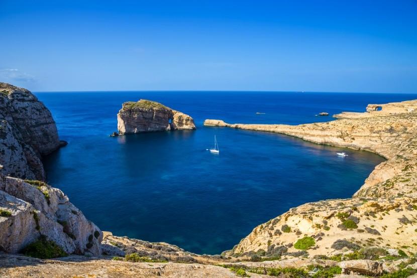 Dwejra Bay na ostrově Gozo