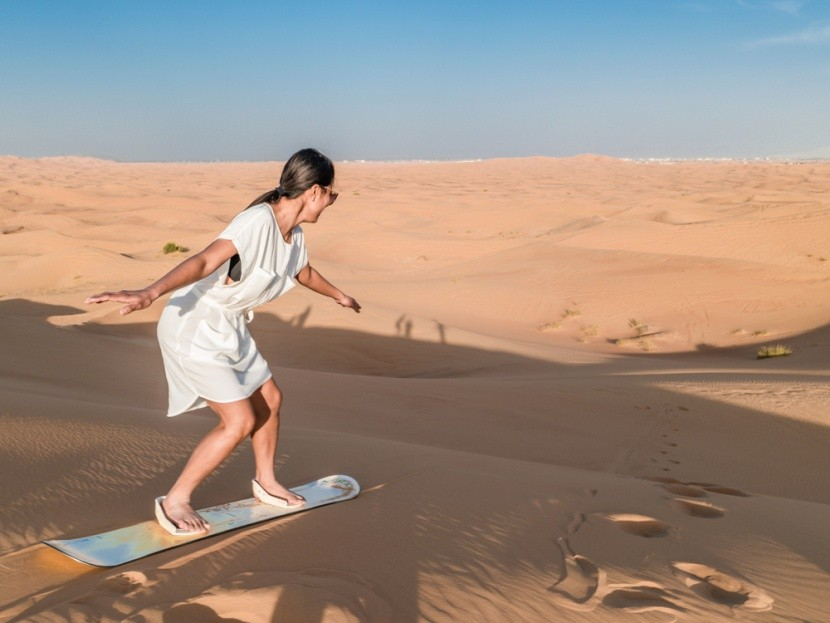 Sandboarding na dunách