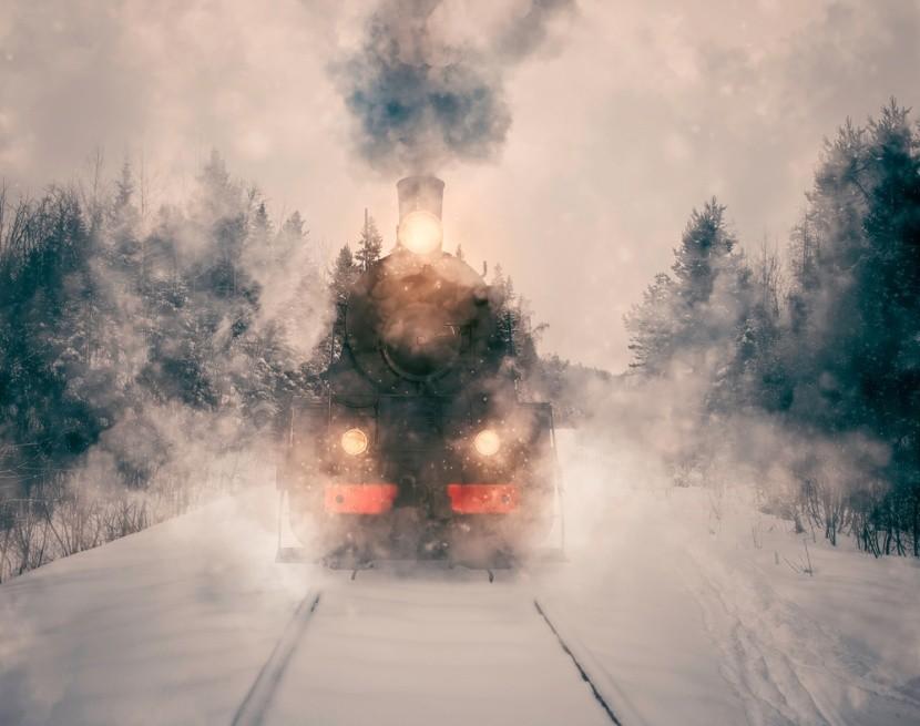 Mesés téli vonatozás
