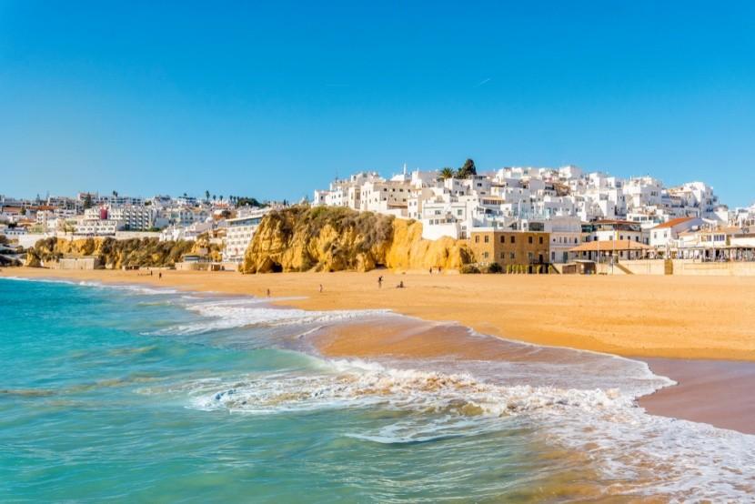 Bílé město Albufeira, Portugalsko