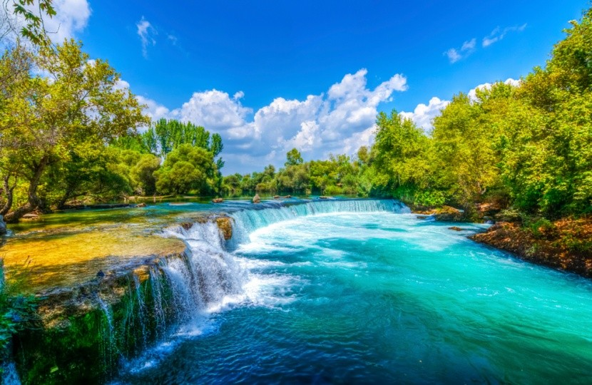 Vodopád Manavgat v Turecku