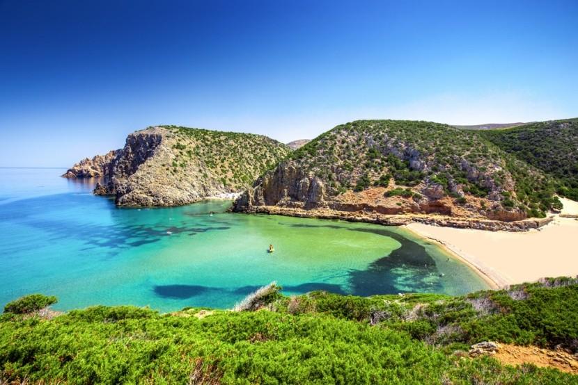 Pláž Cala Domestica, Sardinie