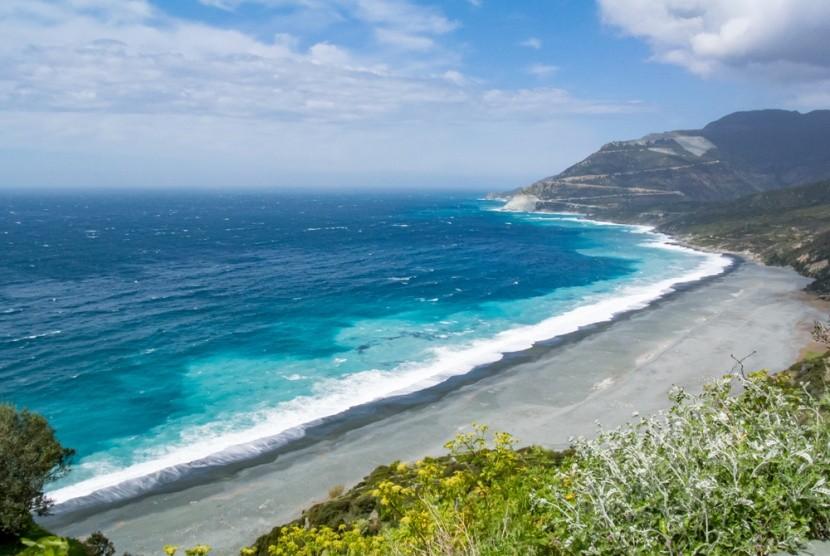 Nonza beach, Cap Corse, Korsika