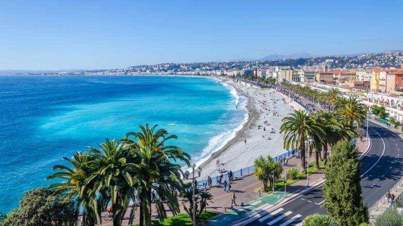 Záliv Andělů, Nice, Francie