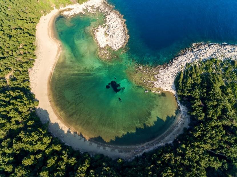 Pláž Saplunara, Mljet, Chorvatsko