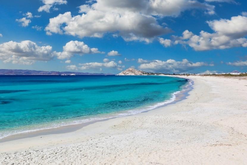 Pláž na ostrově Naxos, Řecko