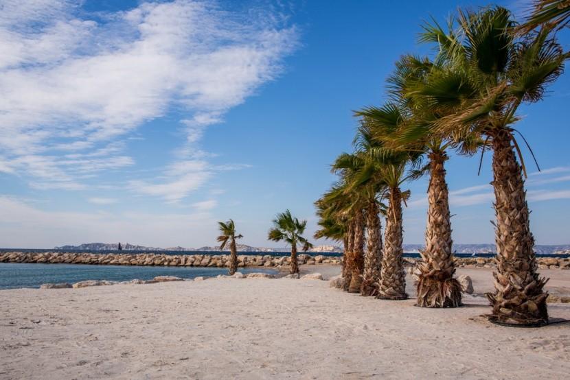 Pláž v Marseille