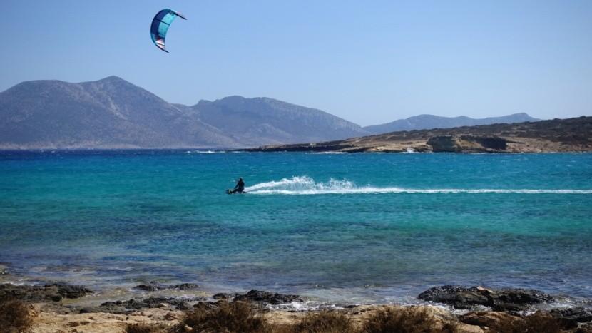 Surfkiting v Egejském moři